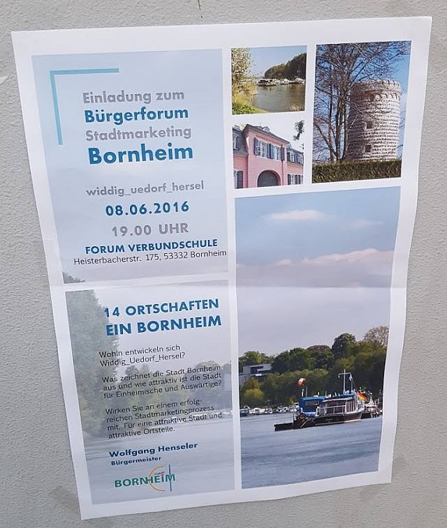 Bürgerforum Stadtmarketing Bornheim Aushang